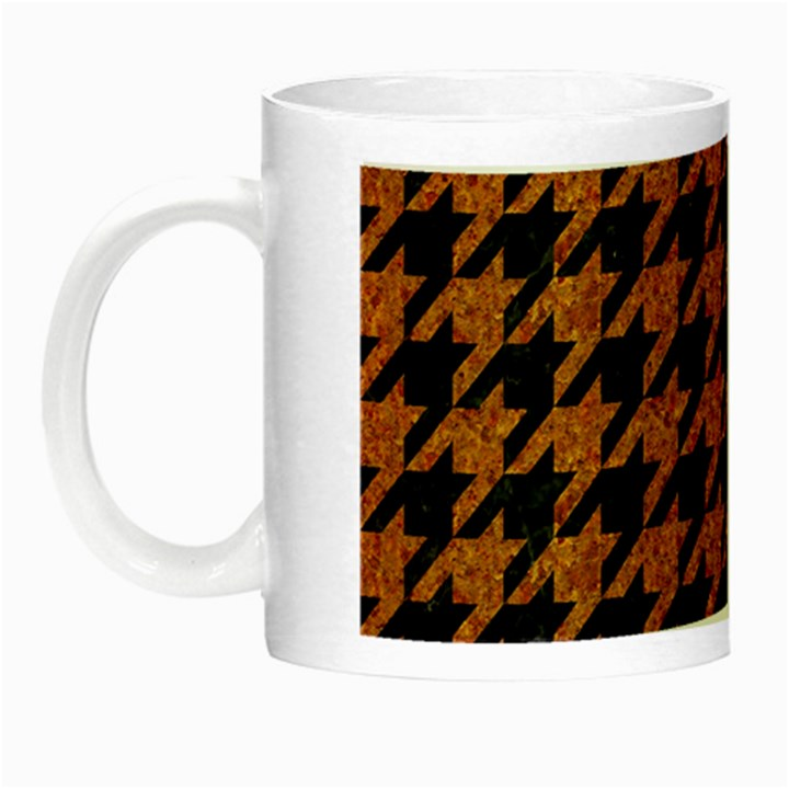 HOUNDSTOOTH1 BLACK MARBLE & RUSTED METAL Night Luminous Mugs