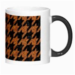 HOUNDSTOOTH1 BLACK MARBLE & RUSTED METAL Morph Mugs Right