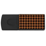 HOUNDSTOOTH1 BLACK MARBLE & RUSTED METAL Rectangular USB Flash Drive Front