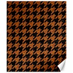 HOUNDSTOOTH1 BLACK MARBLE & RUSTED METAL Canvas 8  x 10  10.02 x8 Canvas - 1