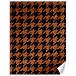 HOUNDSTOOTH1 BLACK MARBLE & RUSTED METAL Canvas 12  x 16   16 x12 Canvas - 1
