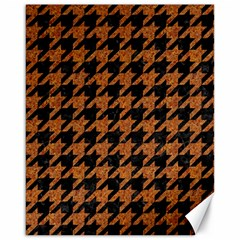 Houndstooth1 Black Marble & Rusted Metal Canvas 16  X 20
