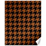 HOUNDSTOOTH1 BLACK MARBLE & RUSTED METAL Canvas 16  x 20   20 x16 Canvas - 1