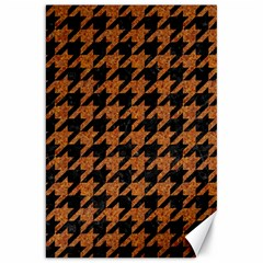 Houndstooth1 Black Marble & Rusted Metal Canvas 20  X 30