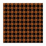 HOUNDSTOOTH1 BLACK MARBLE & RUSTED METAL Medium Glasses Cloth (2-Side) Front