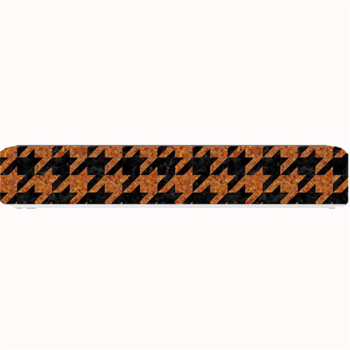 HOUNDSTOOTH1 BLACK MARBLE & RUSTED METAL Small Bar Mats