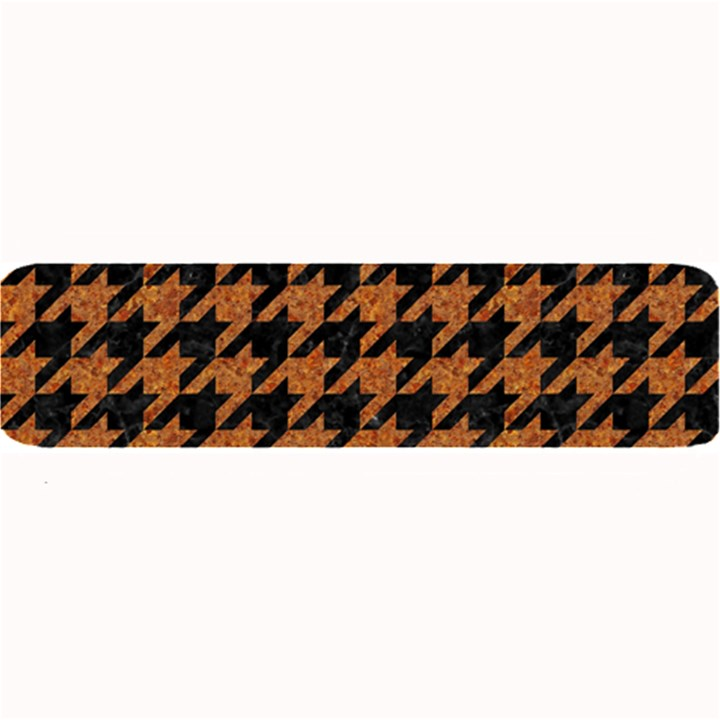HOUNDSTOOTH1 BLACK MARBLE & RUSTED METAL Large Bar Mats