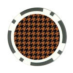 HOUNDSTOOTH1 BLACK MARBLE & RUSTED METAL Poker Chip Card Guard Front