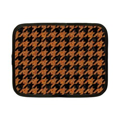 Houndstooth1 Black Marble & Rusted Metal Netbook Case (small)