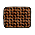 HOUNDSTOOTH1 BLACK MARBLE & RUSTED METAL Netbook Case (Small)  Front