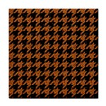 HOUNDSTOOTH1 BLACK MARBLE & RUSTED METAL Face Towel Front