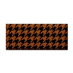 HOUNDSTOOTH1 BLACK MARBLE & RUSTED METAL Cosmetic Storage Cases Front
