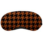 HOUNDSTOOTH1 BLACK MARBLE & RUSTED METAL Sleeping Masks Front