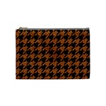 HOUNDSTOOTH1 BLACK MARBLE & RUSTED METAL Cosmetic Bag (Medium)  Front