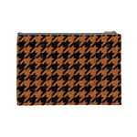 HOUNDSTOOTH1 BLACK MARBLE & RUSTED METAL Cosmetic Bag (Large)  Back