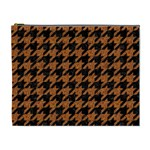 HOUNDSTOOTH1 BLACK MARBLE & RUSTED METAL Cosmetic Bag (XL) Front