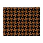HOUNDSTOOTH1 BLACK MARBLE & RUSTED METAL Cosmetic Bag (XL) Back