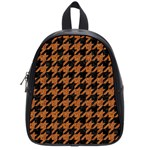 HOUNDSTOOTH1 BLACK MARBLE & RUSTED METAL School Bag (Small) Front