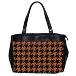 HOUNDSTOOTH1 BLACK MARBLE & RUSTED METAL Office Handbags (2 Sides)  Front