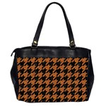 HOUNDSTOOTH1 BLACK MARBLE & RUSTED METAL Office Handbags (2 Sides)  Back