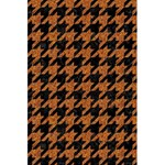 HOUNDSTOOTH1 BLACK MARBLE & RUSTED METAL 5.5  x 8.5  Notebooks Back Cover Inside