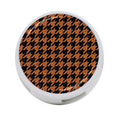 Houndstooth1 Black Marble & Rusted Metal 4 Port Usb Hub (two Sides)