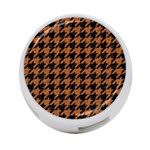 HOUNDSTOOTH1 BLACK MARBLE & RUSTED METAL 4-Port USB Hub (Two Sides)  Front