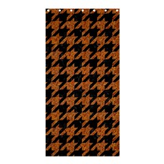 Houndstooth1 Black Marble & Rusted Metal Shower Curtain 36  X 72  (stall)