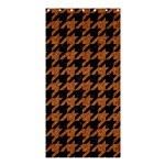 HOUNDSTOOTH1 BLACK MARBLE & RUSTED METAL Shower Curtain 36  x 72  (Stall)  33.26 x66.24 Curtain