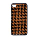HOUNDSTOOTH1 BLACK MARBLE & RUSTED METAL Apple iPhone 4 Case (Black) Front