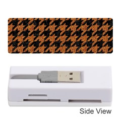 Houndstooth1 Black Marble & Rusted Metal Memory Card Reader (stick)