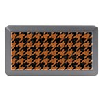 HOUNDSTOOTH1 BLACK MARBLE & RUSTED METAL Memory Card Reader (Mini) Front