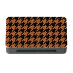 HOUNDSTOOTH1 BLACK MARBLE & RUSTED METAL Memory Card Reader with CF Front