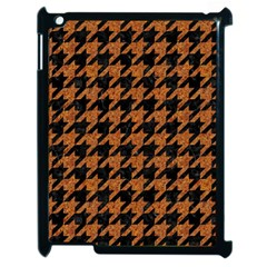 Houndstooth1 Black Marble & Rusted Metal Apple Ipad 2 Case (black)