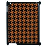 HOUNDSTOOTH1 BLACK MARBLE & RUSTED METAL Apple iPad 2 Case (Black) Front