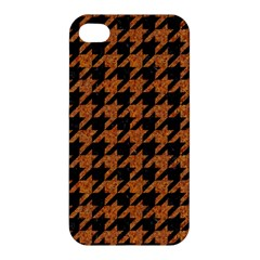 Houndstooth1 Black Marble & Rusted Metal Apple Iphone 4/4s Hardshell Case