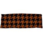HOUNDSTOOTH1 BLACK MARBLE & RUSTED METAL Body Pillow Case (Dakimakura) Body Pillow Case