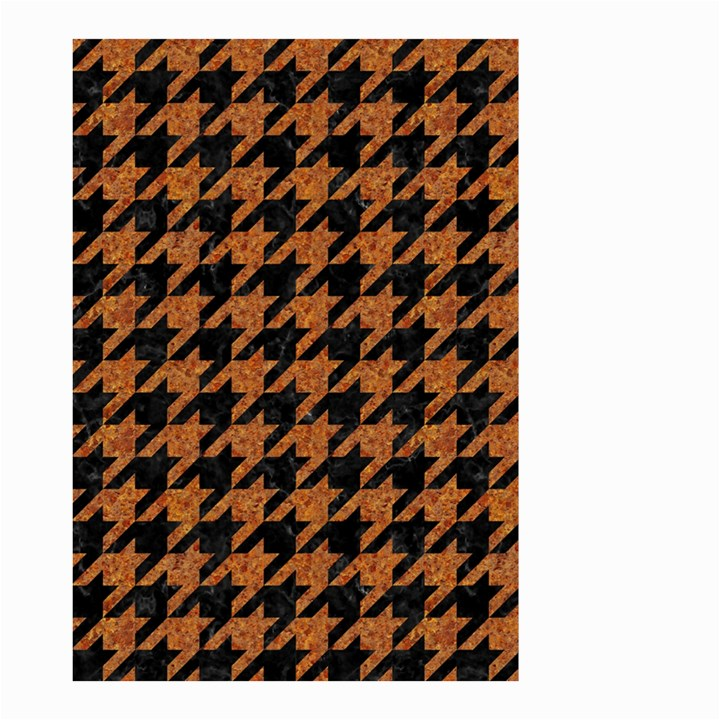 HOUNDSTOOTH1 BLACK MARBLE & RUSTED METAL Small Garden Flag (Two Sides)