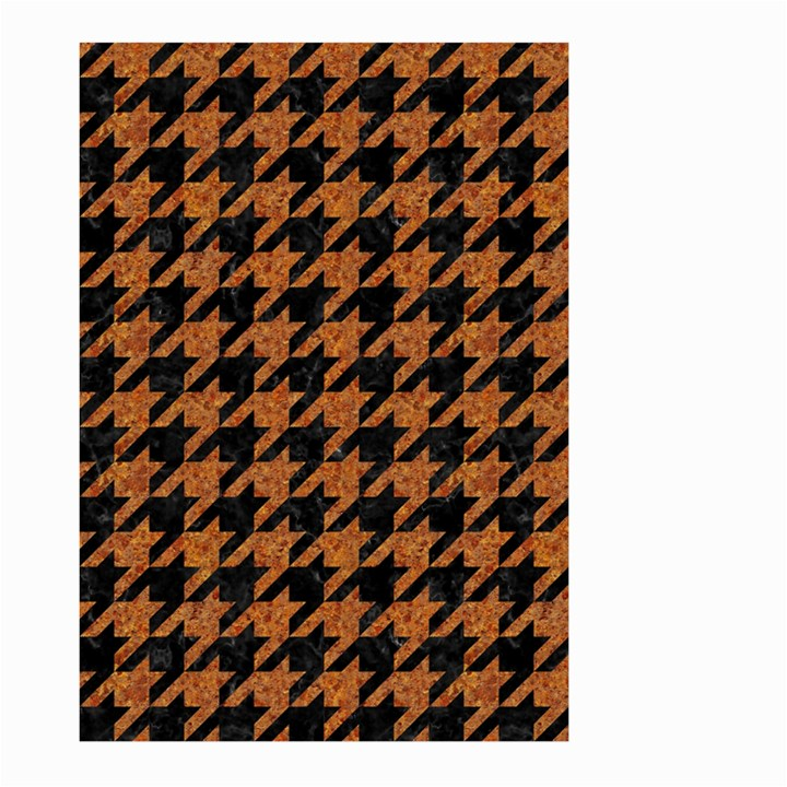 HOUNDSTOOTH1 BLACK MARBLE & RUSTED METAL Large Garden Flag (Two Sides)