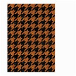 HOUNDSTOOTH1 BLACK MARBLE & RUSTED METAL Large Garden Flag (Two Sides) Back