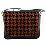 HOUNDSTOOTH1 BLACK MARBLE & RUSTED METAL Messenger Bags Front