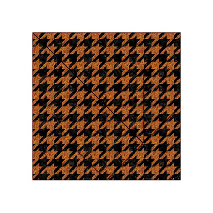 HOUNDSTOOTH1 BLACK MARBLE & RUSTED METAL Acrylic Tangram Puzzle (4  x 4 )