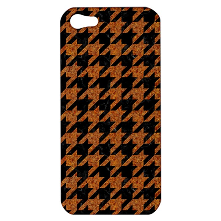 HOUNDSTOOTH1 BLACK MARBLE & RUSTED METAL Apple iPhone 5 Hardshell Case