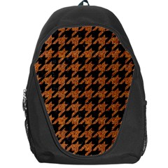Houndstooth1 Black Marble & Rusted Metal Backpack Bag
