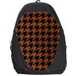 HOUNDSTOOTH1 BLACK MARBLE & RUSTED METAL Backpack Bag Front