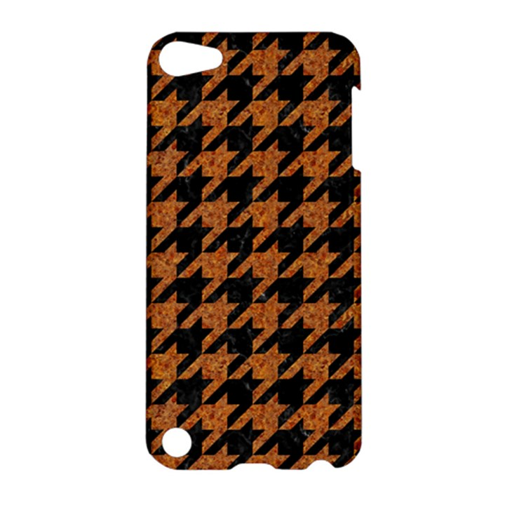HOUNDSTOOTH1 BLACK MARBLE & RUSTED METAL Apple iPod Touch 5 Hardshell Case