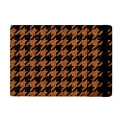 Houndstooth1 Black Marble & Rusted Metal Apple Ipad Mini Flip Case