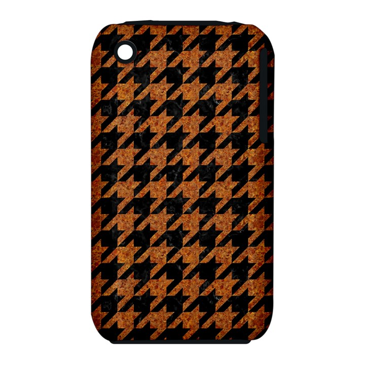 HOUNDSTOOTH1 BLACK MARBLE & RUSTED METAL iPhone 3S/3GS