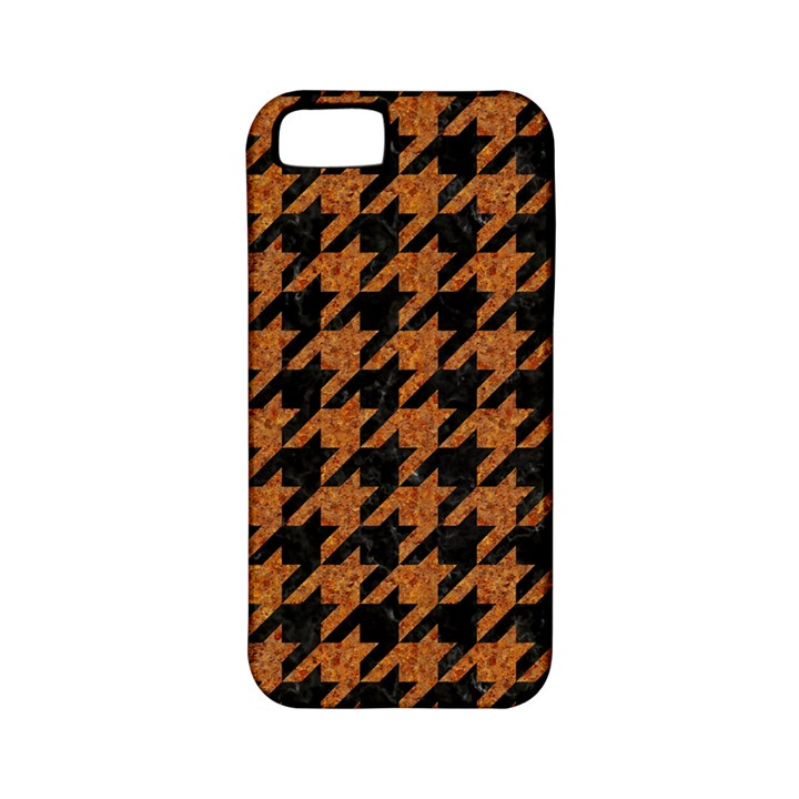 HOUNDSTOOTH1 BLACK MARBLE & RUSTED METAL Apple iPhone 5 Classic Hardshell Case (PC+Silicone)