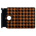 HOUNDSTOOTH1 BLACK MARBLE & RUSTED METAL Apple iPad 2 Flip 360 Case Front